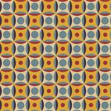 Seamless pattern in retro colors