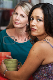 Concerned Ladies in Coffeehouse