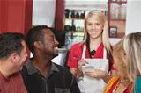 Waitress with Diverse Customers