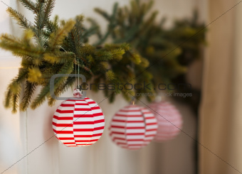 Closeup on Christmas decoration elements