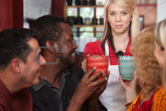 Hostess Bringing Drinks