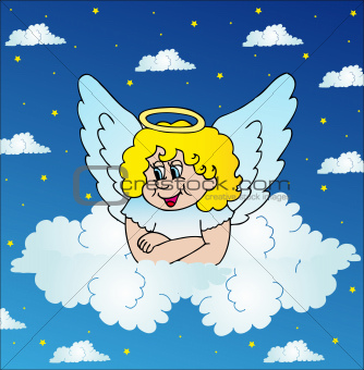 Angel on sky