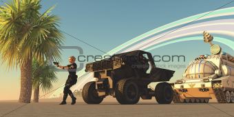 Convoy on Alien Planet