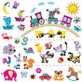 big set with children pictures