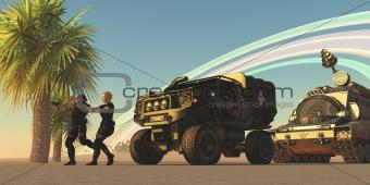 Military on Alien Planet