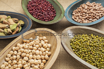 beans in bowls abstract