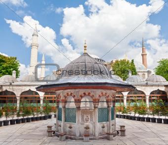 Mosque's courtyard
