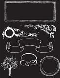 chalkboard design textured elements