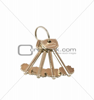 Four keys on a white background
