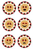Sun smile faces