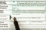 Pen and Tax Form