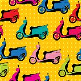 Comic style scooter pattern