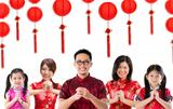 Group of Chinese people greeting