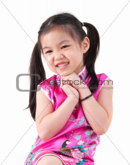 Little girl in Cheongsam