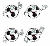 Talking cartoon football set