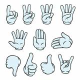 Set of cartoon hands