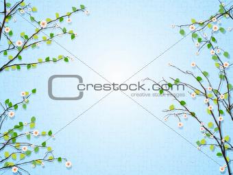 Floral tree illustration