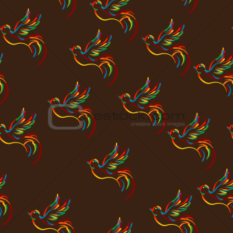 Stylish bird pattern