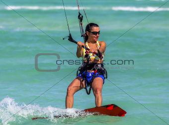Kite-surfer girl