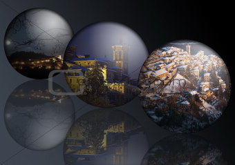 Landscapes in the spheres
