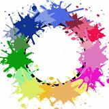 Abstract colorful splashes