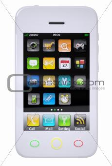 White smartphone