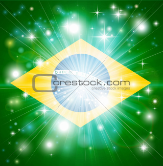 Brazilian flag background