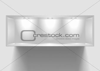 exhibition shelf