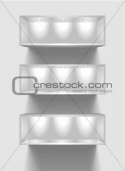 exhibition shelves