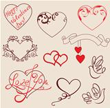 Valentine&#39;s design elements