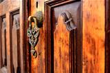 Brass gate with door knocker istanbul Turkey