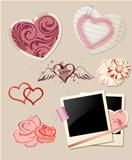 Valentine`s Day scrapbook