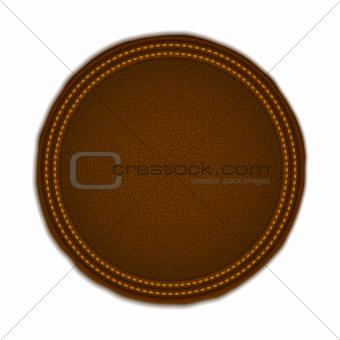 Round Leather Badge