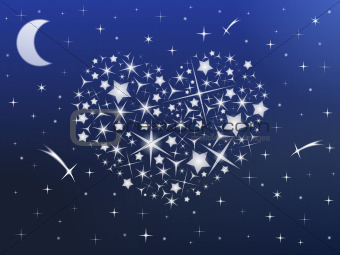 Heart made of Stars