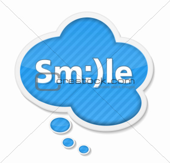 Speech Bubble with Smile