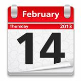 Calendar with 14 February