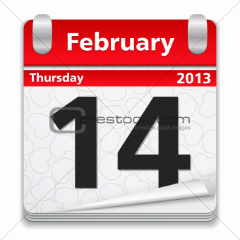 Calendar with 14 February