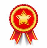 Golden Medal with Star