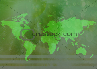 World map as website background