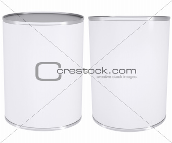 White metal tin