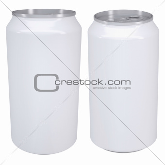 White aluminum beverage cans