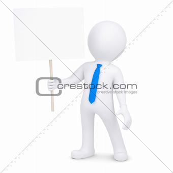 3d man holding a poster