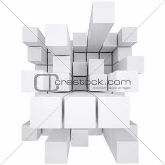 Abstract white cube
