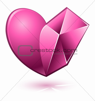 Vector illustration of pink heart