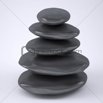 Pyramid from sea stones