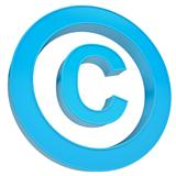 Blue sign copyright
