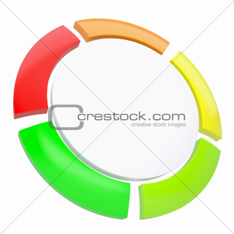 Multicolored abstract disk