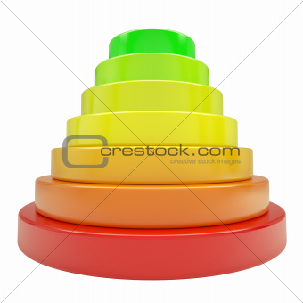 Pyramid of colored discs