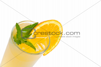 Orange fresh juice with mint