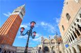 Campanile and Doge&#39;s Palace in Venice, Italy.
